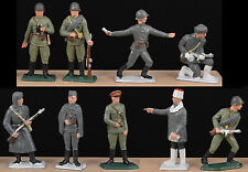 Starlux WWII Russian Infantry - Set of 9 in 9 poses - 60mm Painted Toy Soldiers