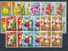 Motiv-Marken Blumen, Orchiden im 4er Block, Ecuatorial Guinea, (MO1)
