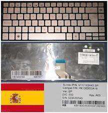 Teclado Qwerty Español PB EasyNote BFS2 NX82 EC49C NSK-AS20G KB.I100A.038 Gris