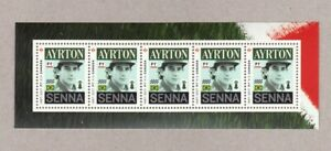 FORMULA 1 = AYRTON SENNA = SS of 5 cut from Uncut Sheet Canada 2017 MNH