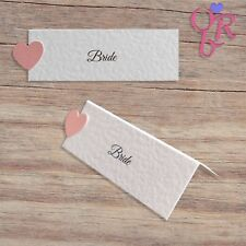 10 Personalised Wedding Place Cards *Many Colour Choices* *Free P&P*