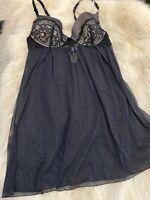 EDC BLACK Padded underwired Camisole Top sleepwear nightwear sz us36B it4b eu80b
