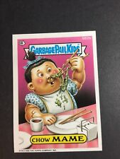 1988 Topps  Garbage Pail Kids Chow Mame Trading Card / Sticker # 582b