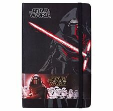 "Moleskine Star Wars The Force Awakens Hard Cover Ruled Notebook  5 x 8"" 240 Page"