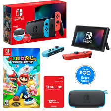 💥NEW Nintendo Switch Super Bundle 💥 Console+Case+Game and 12 Mo. Membership💥