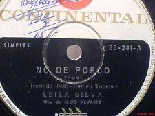 "HEAR 7"" LEILA SILVA 45 ""NO DE PORCO""+""JUCA DO BRAZ"" BOSSA JAZZ BRAZIL 60's NM"