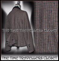 NEXT Tweed Heritage 30s 40s 50s Vintage Riding Jacket Victorian Bustle UK 14 16
