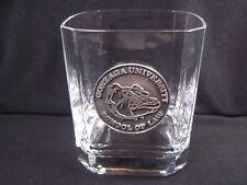 New listing Clear crystal bar glass pewter medallion Gonzaga School of Law Bulldog 8 oz