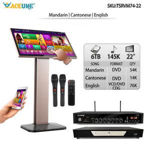 6TB HDD 145K Chinese+English Song, 22''  ECHOTouch Screen Karaoke Player 觸摸屏,播放器