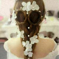 Charming Women Flower Ribbon Bridal Headband Wedding Hairband Headwear 2019 X7U1