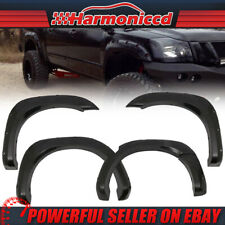 Fits 04-15 Nissan Titan Pocket Rivet Style Smooth Fender Flares ABS Plastic