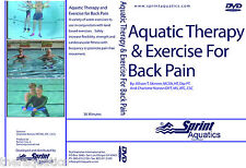 Aquatic Therapy and Exercise for Back Pain DVD FITNESS EXERCISE Water Class Gym