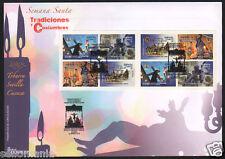 2016 SPD TRADICIONES Y COSTUMBRES EDIFIL 5037 / 40  CARNE 5037C FDC  TP20073SPD