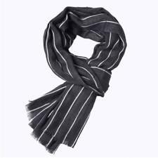 Fashion Men Striped Scarf Spring Autumn Warm Soft Shawls Cotton Tassel Scarves