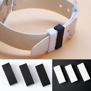 2x Watch Strap Band Rubber Loops Retaining Buckle Holder Connection Accessories