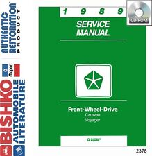 1989 Dodge Caravan Plymouth Voyager Shop Service Repair Manual DVD Drivetrain OE