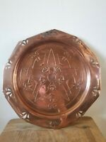 Antique Arts And Crafts Movement Copper charger tray