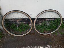 Vintage 1979 chrome steel three speed wheelset