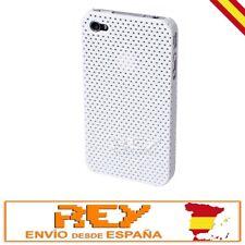 Carcasa IPHONE 4 4S PERFORADA, Dura y Ligera, Color BLANCO, Nuevo i28