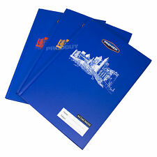 3 x Castle A4 Paper Notebooks Hard Cover 160 Page Lined Writing School Book Pads