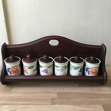 Lovely Rare Villeroy & Boch Amapola Spice Rack, never used