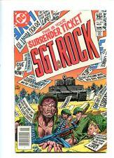 SGT. ROCK #370 HI GRADE STUNNING COVER CANADIAN PRICE VARIANT