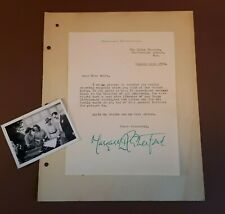 More details for 1950 hand-signed letter & b/w photograph. margaret rutherford/ globe theatre