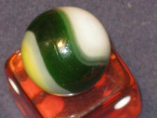 Emerald Green & Yellow Helmet Patch Vintage Vitro Multi Color Glass Marble