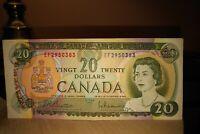 1969 $20 Dollar Bank of Canada Banknote EF2950383 Crisp