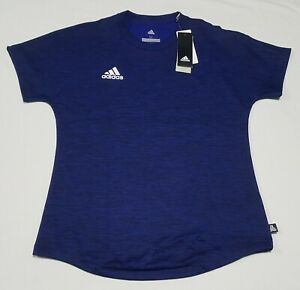ADIDAS Womens Tan Terry JYS shirt blue CZ5711 size Medium