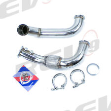 "3"" REV9 STAINLESS SIDEWINDER TURBO DOWNPIPE FOR RSX K20 06-11 CIVIC SI V-BAND"