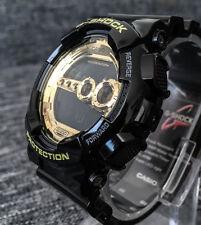 Casio G Shock GD-100GB-1ER Dorado y Negro Digital 4 zonas horarias 200M WR NUEVO