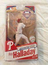 MCFARLANE MLB BASEBALL ROY HALLADAY BRONZE COLLECTOR LEVEL CHASE WHITE/RED HAT
