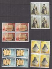 MALTA, 1996 Maltese Prehistoric Art set of 4 , blocks of 4, mnh.
