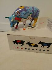 """#9194 """"Cow Doodle"""" Cow Parade Figurine, 2001 *Rare* New in box w/ tag"""