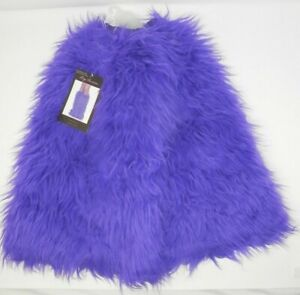 Leg Avenue Purple Furry Leg Warmers - Cosplay Rave Festival Concert Costume NWT