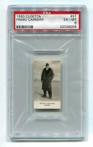 1930 Cloetta Ross 97 Primo Carnera PSA 6 EX-Mint NQ Swedish Card Pop 1, 0 Higher