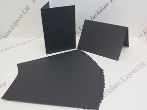 20 x Greeting Cards Blank A6 Black Matt Single fold 300gsm Cardmaking AM218