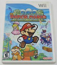 SUPER PAPER MARIO Case Artwork Only NO GAME MANUAL Nintendo Wii White Label CIB