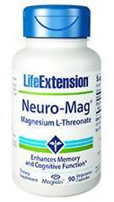 THREE BOTTLES $21 Life Extension Neuro-Mag  magnesium memory mood sleep heart