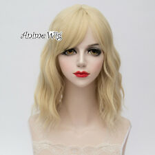 35CM Light Blonde/Orange/Light Pink/Sliver White Short Curly Lolita Wig Cosplay