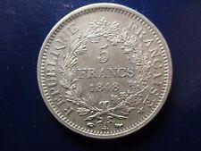 FRANCIA FRANCE II REPUBLICA 5 FRANCS 1848 A HERCULES EBC/EBC+  BONITA