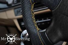 Cubierta del Volante Cuero Perforado Para Mercedes T2 711 Amarillo doble puntada