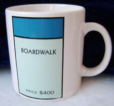Monopoly Boardwalk Coffee Mug Made by Wine Things Unlimited / 2004 Hasbro