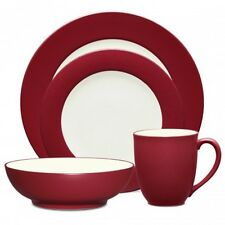 Noritake Colorwave Raspberry Rim 32Pc Dinnerware Set, Service for 8