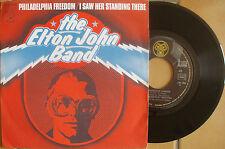 ELTON JOHN DJM17645 PHILADELPHIA FREEDOM / I SAW HER STANDING THERE with LENNON