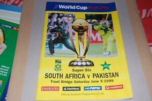 SOUTH AFRICA v PAKISTAN JUNE 5th 1999 OFFICIAL PROGRAMME with GAME TICKET