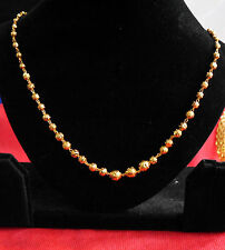 gold plated chain choker lenght 18 in bollywood style eleghant  royal chain