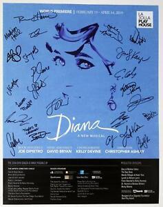 DIANA Musical Pre-Broadway La Jolla Cast Jeanna de Waal Signed Poster