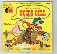 PECOS BILL Joyeux Cow-Boy Vinyle 33 tours 17cm Livre Walt Disney DISNEYLAND 360